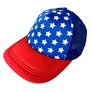 Patriotic Foam Padded Mesh Back SnapBack Hat Cap